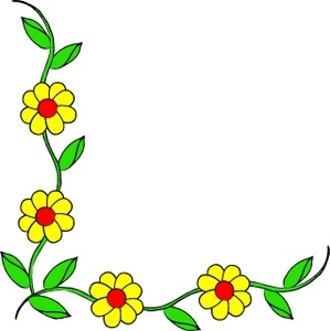 299x300 Flower Border Clip Art Free Download