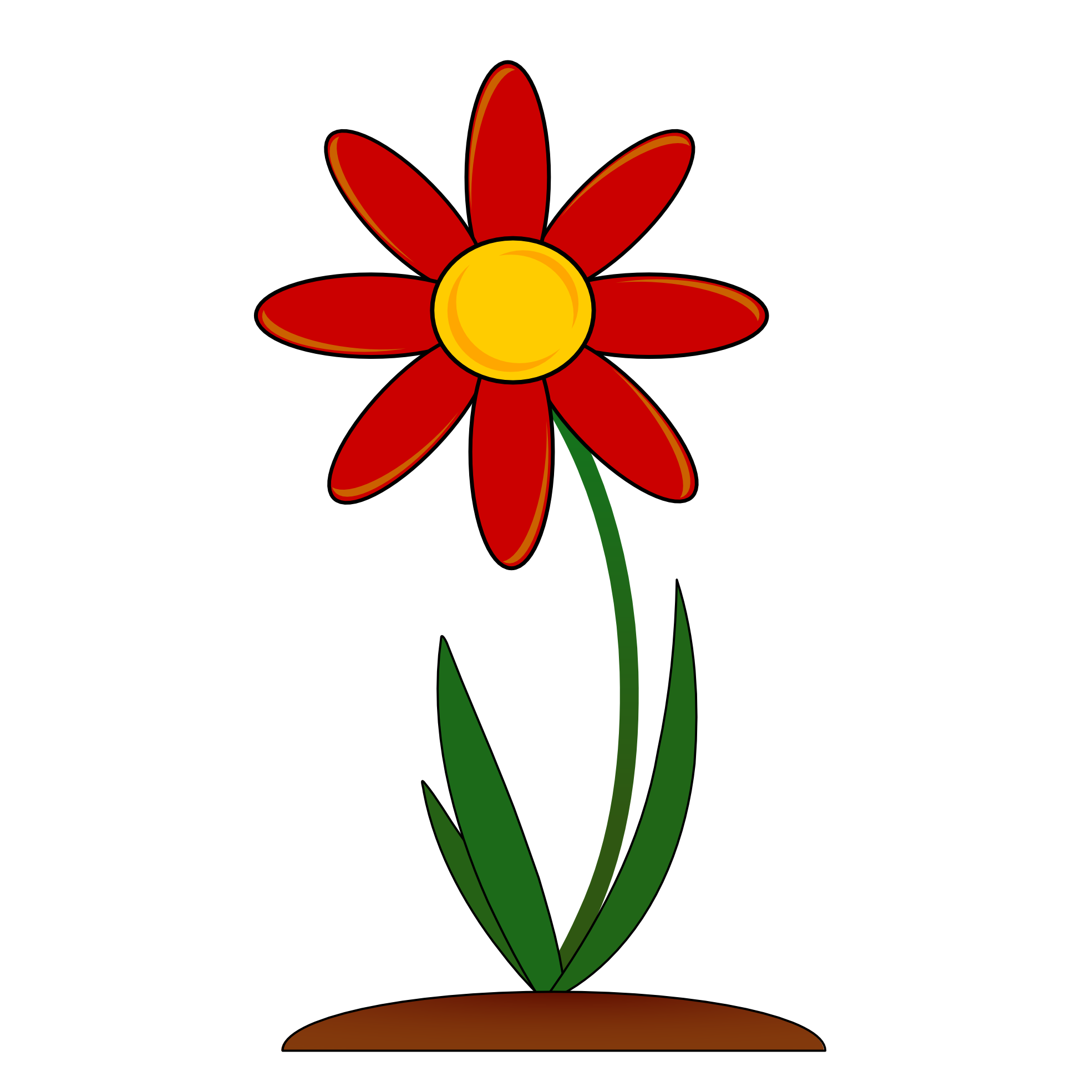 1969x1969 Free Red Flower Clip Art