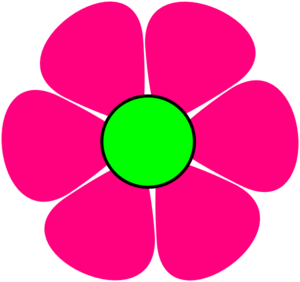 300x282 Pink Flower Border Clipart Free Clipart Images