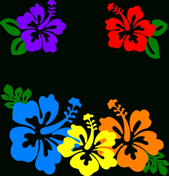 570x596 Hawaiian Flower Clip Art Borders Clipart Panda