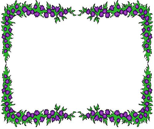 Free Flower Borders Clipart