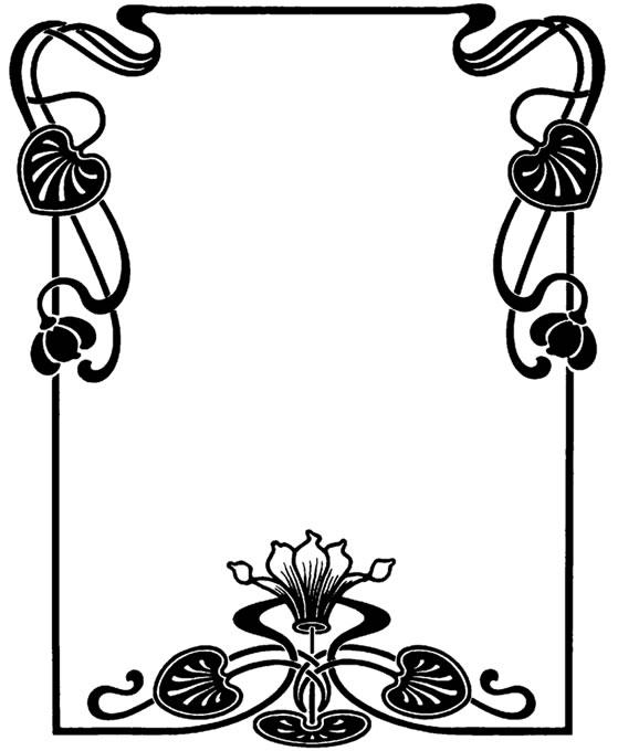 559x680 Free Art Nouveau Border Clip Art