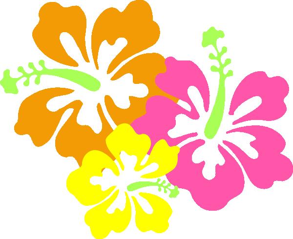 600x490 Luau Flowers Clip Art Borders Free Clipart