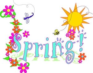 300x238 Spring Flower Border Clip Art Free