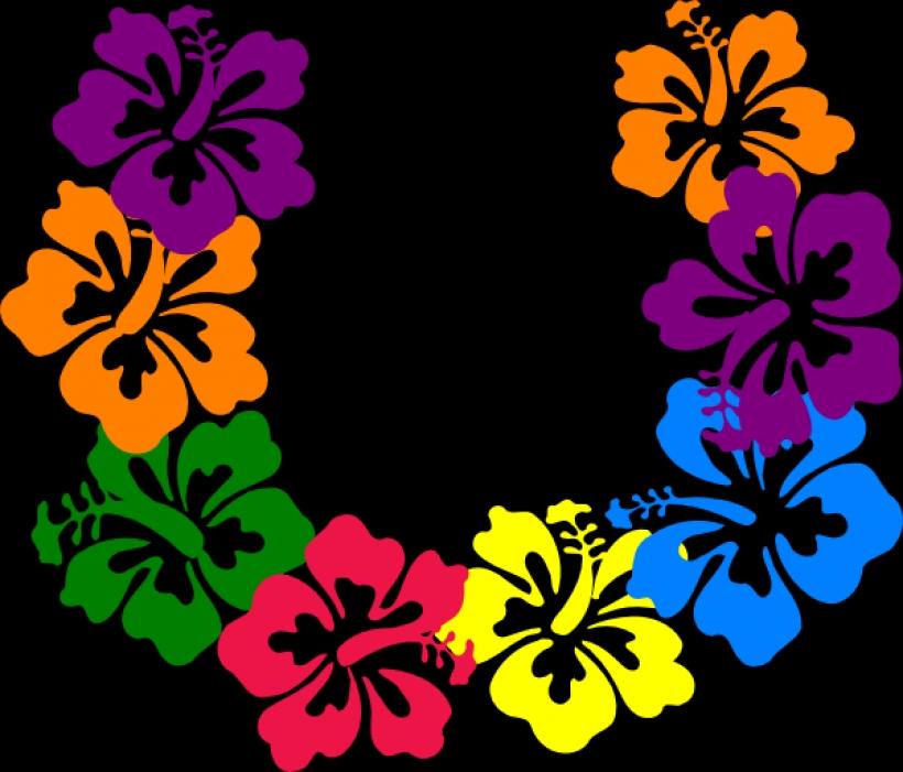820x701 Hawaiian Flower Clip Art Borders Clipart Panda Free Clipart
