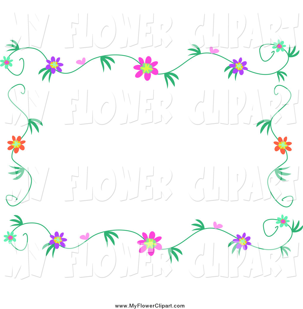 1024x1044 Clip Art Of A Flower Vine Border Frame By Bpearth
