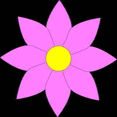 400x400 Flower Clipart Transparent Background