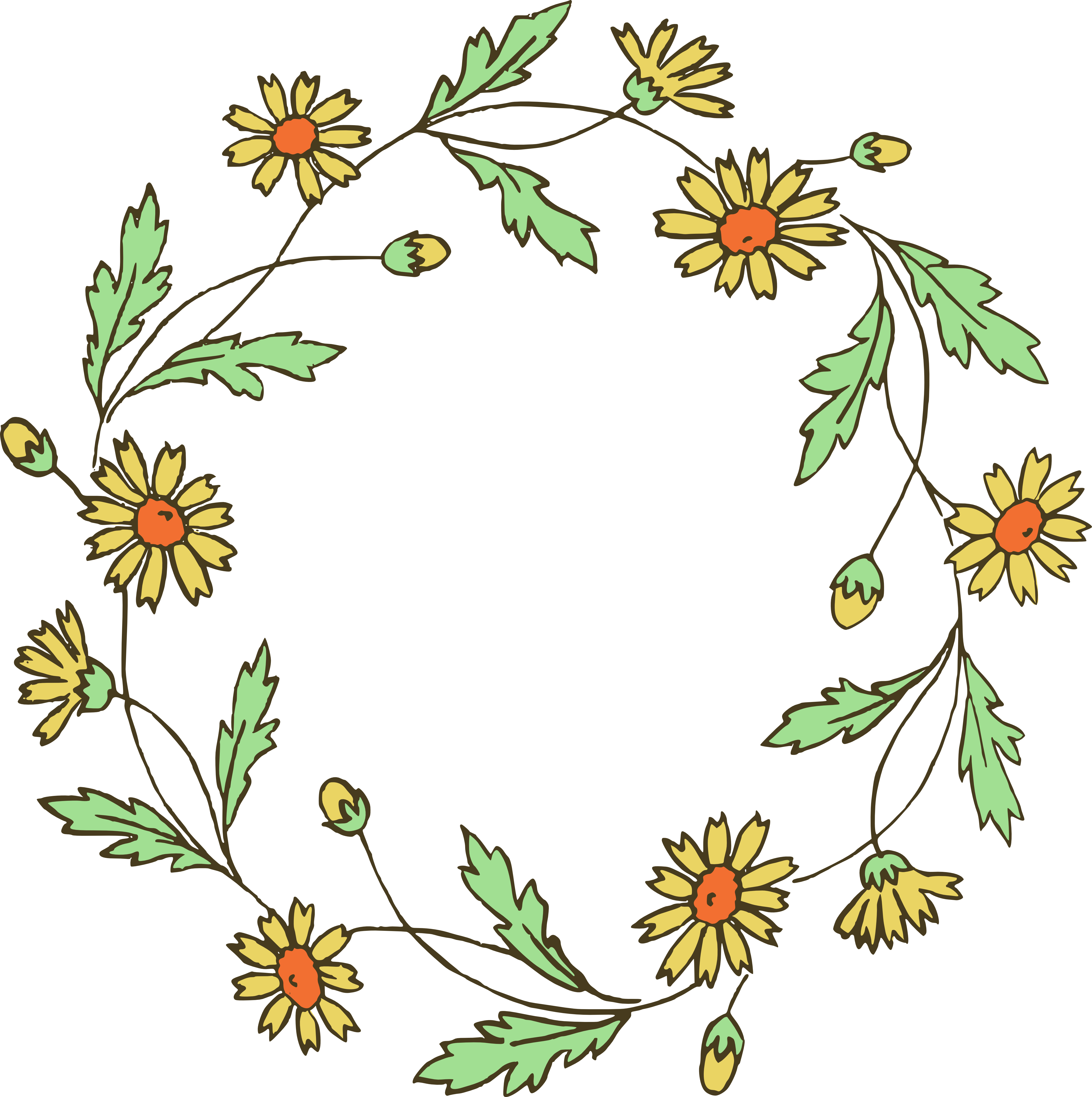 4686x4707 Border Clipart Flower Wreath Clipart Gallery ~ Free Clipart Images