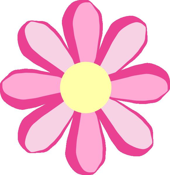 582x599 Pink Flower Clipart Transparent