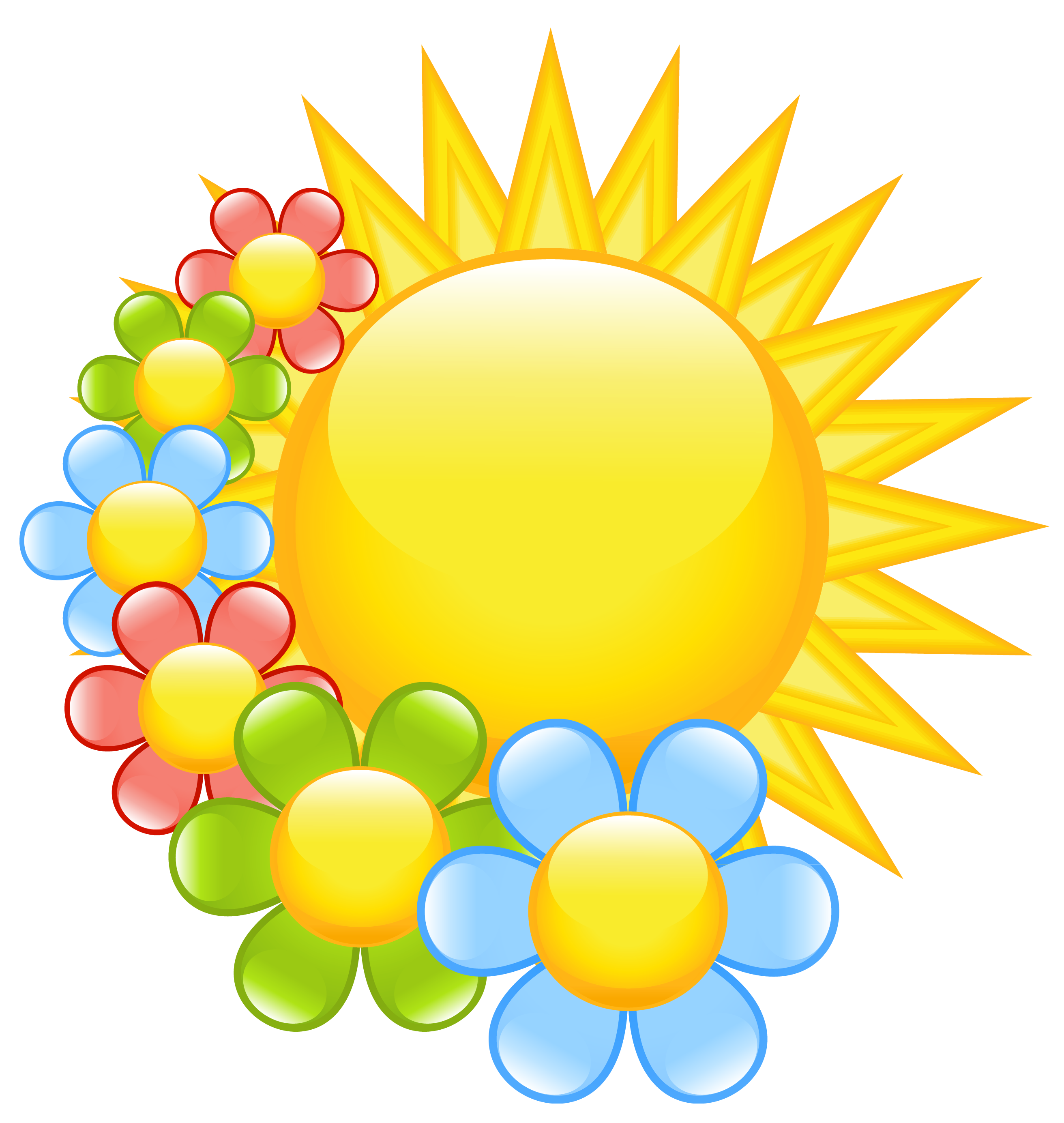 2624x2769 Spring Flowers Clip Art And Flower Clips