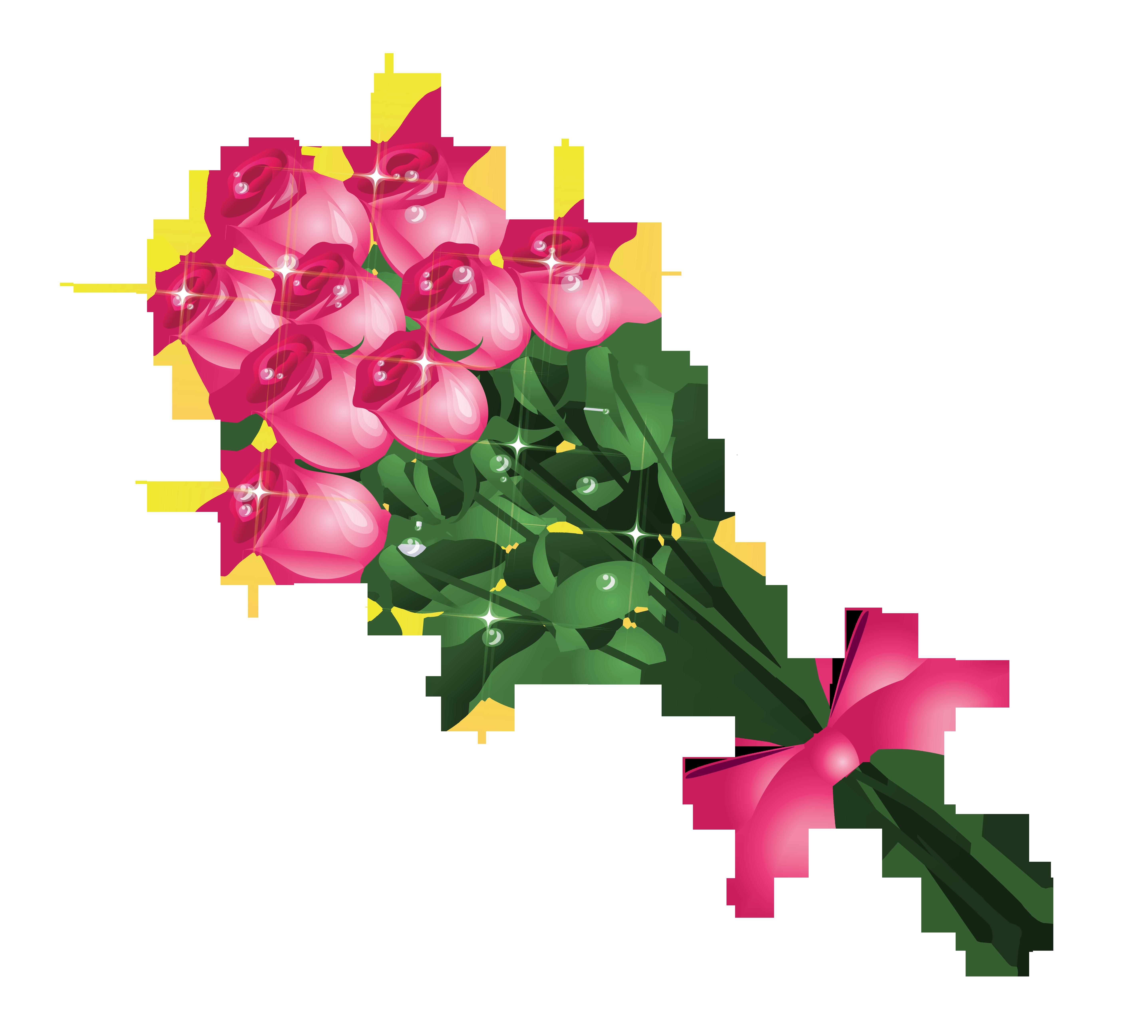 5747x5185 Transparent Pink Roses Bouquet Png Clipart Pictureu200b Gallery