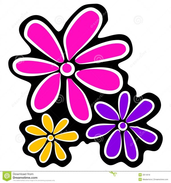 600x642 Flowers Clipart Black And White Free Flowers Clipart Flowers Clip