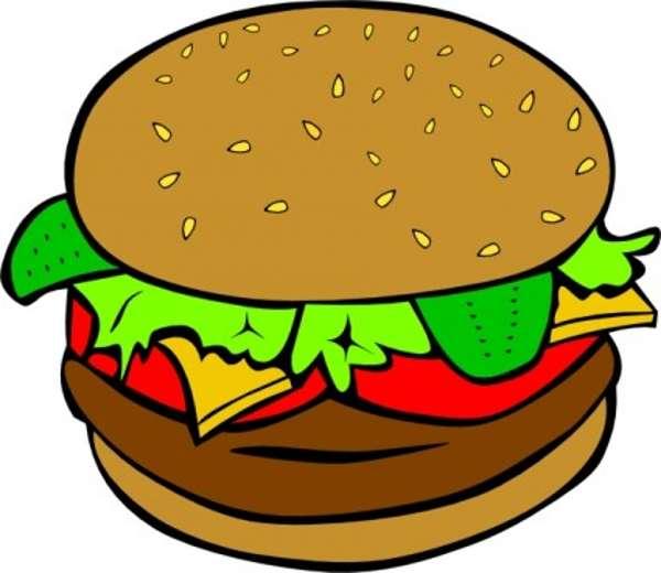 600x520 Burger Clipart School Food