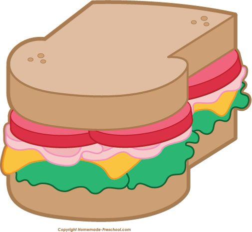505x465 Free Food Sandwich Clipart