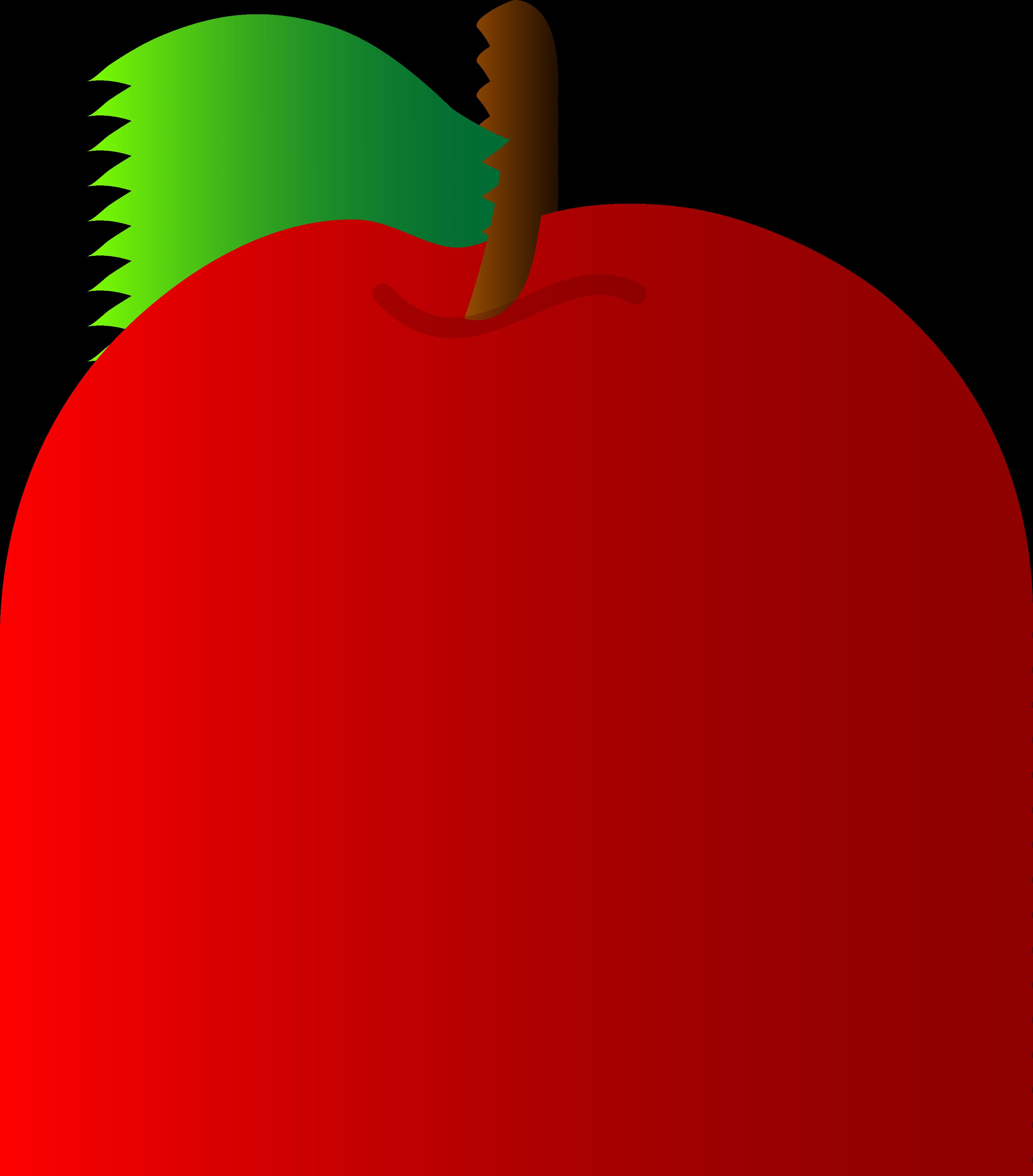 3097x3526 Red Apple Vector Art