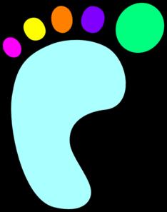 234x297 Left Foot Color Clip Art