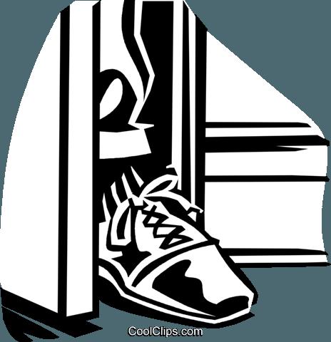 464x480 Foot In The Door Royalty Free Vector Clip Art Illustration