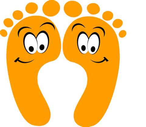 480x417 Barefoot Clipart Foot Stomping