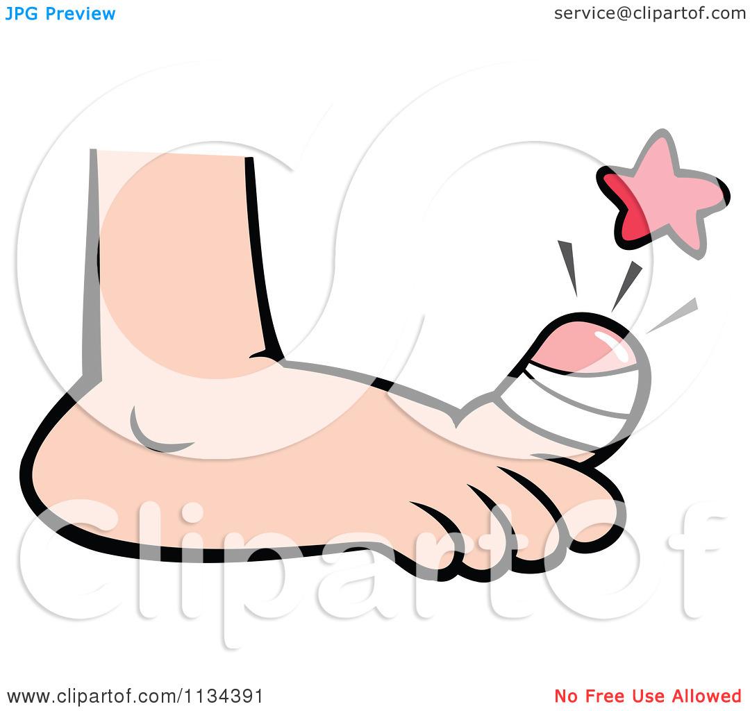 1080x1024 Big Foot Clipart Toe