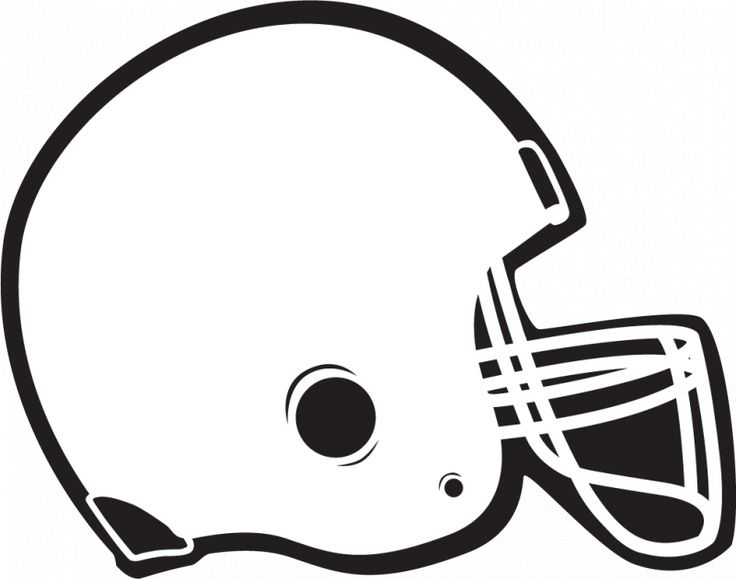 Free Football Clipart Black And White