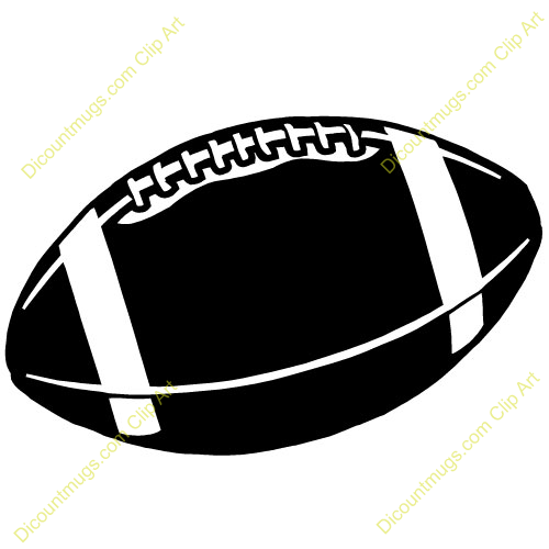 500x500 Football Clipart Black And White