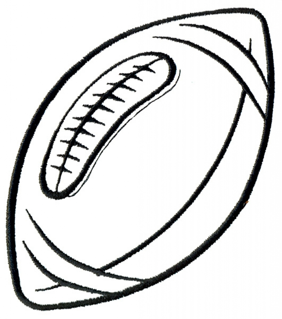 906x1024 Football Clipart Outline