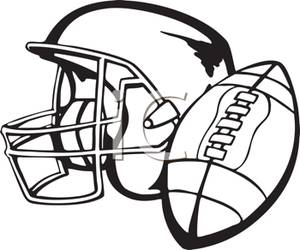 300x250 Football Helmet And Football
