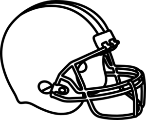 300x246 Free Football Outline Clipart Image