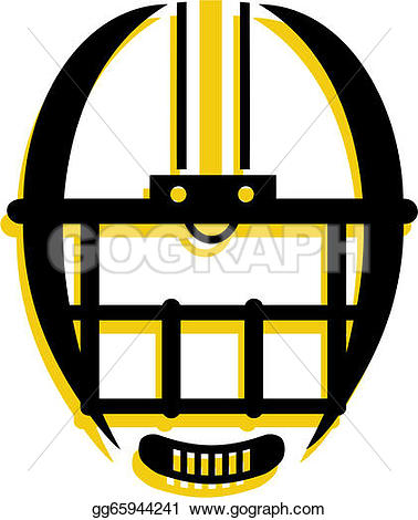 378x470 Football Helmet Front View Clipart