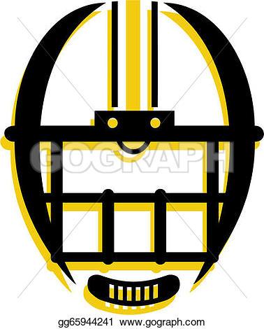 378x470 Football Helmet Front View Clipart