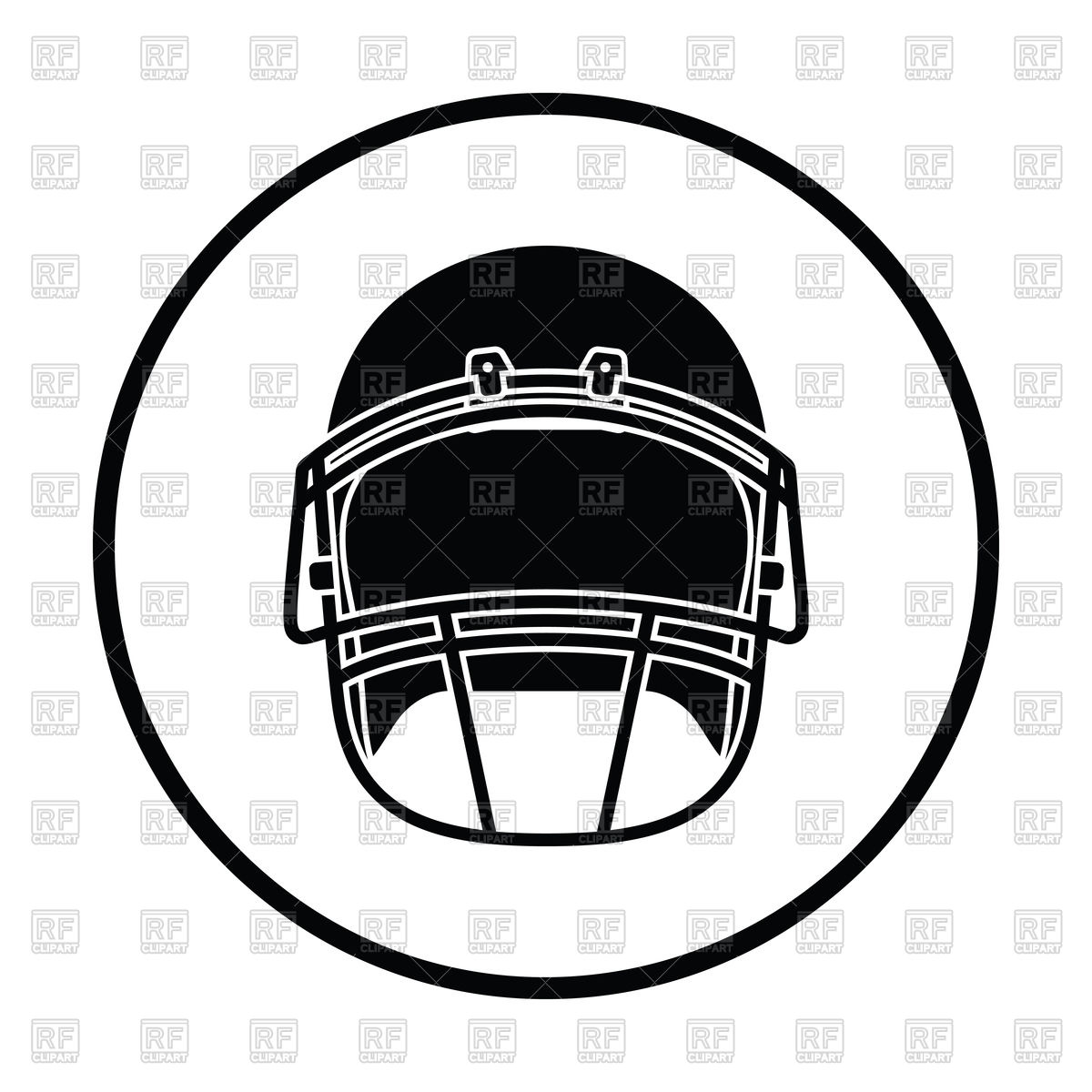 1200x1200 Thin Circle Design Of American Football Helmet Icon Royalty Free