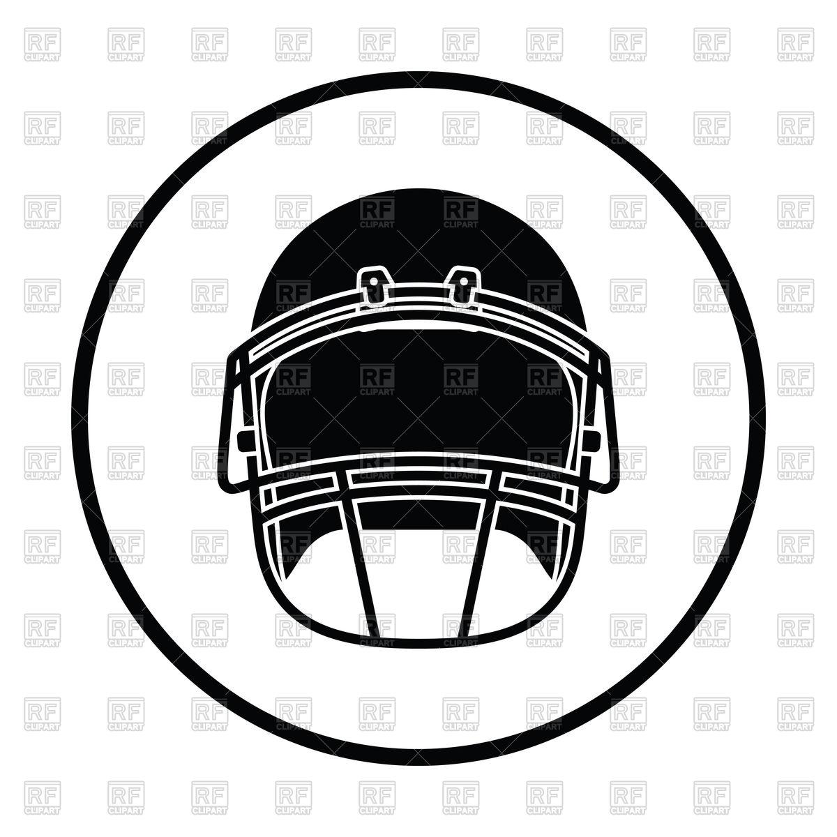 1200x1200 Thin Circle Design Of American Football Helmet Icon Royalty Free