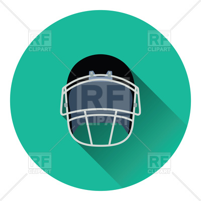 400x400 Flat Color Design Of American Football Helmet Icon Royalty Free