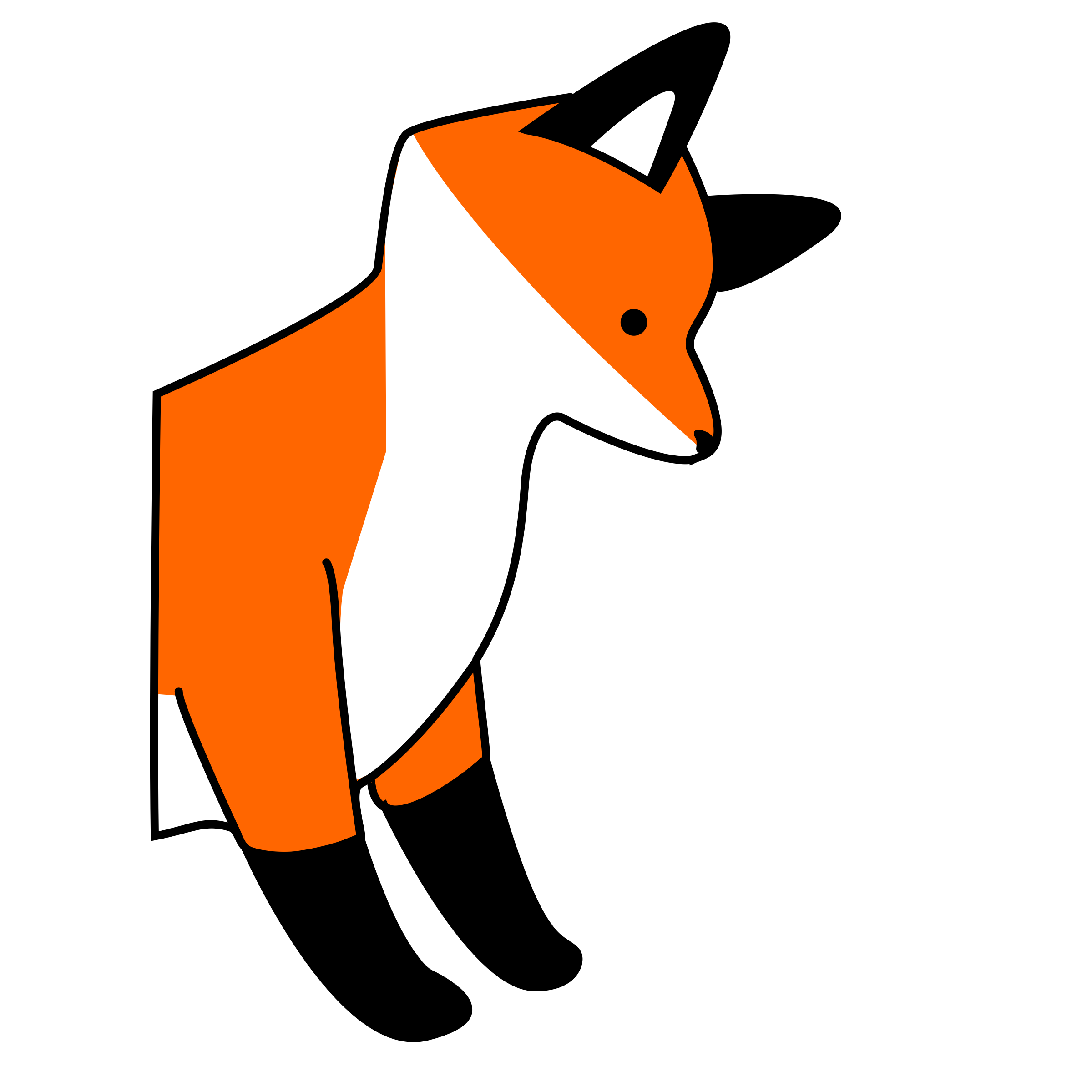 2400x2400 Fox black and white fox clipart black and white free images 3