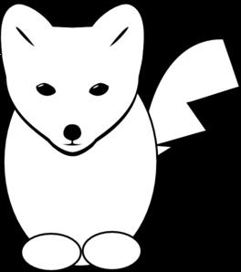 264x298 Fox head clipart black and white