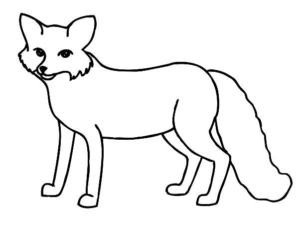 600x463 Polar Fox clipart color