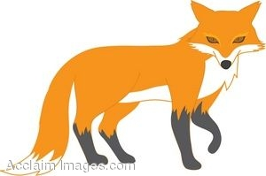300x199 Red Fox Clipart