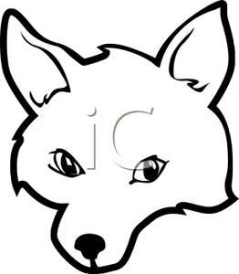 262x300 Art Image A Black and White Fox Head
