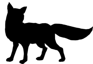 297x204 Black Fox Outline Clip Art