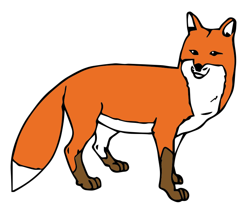 800x690 Clipart Of Foxes