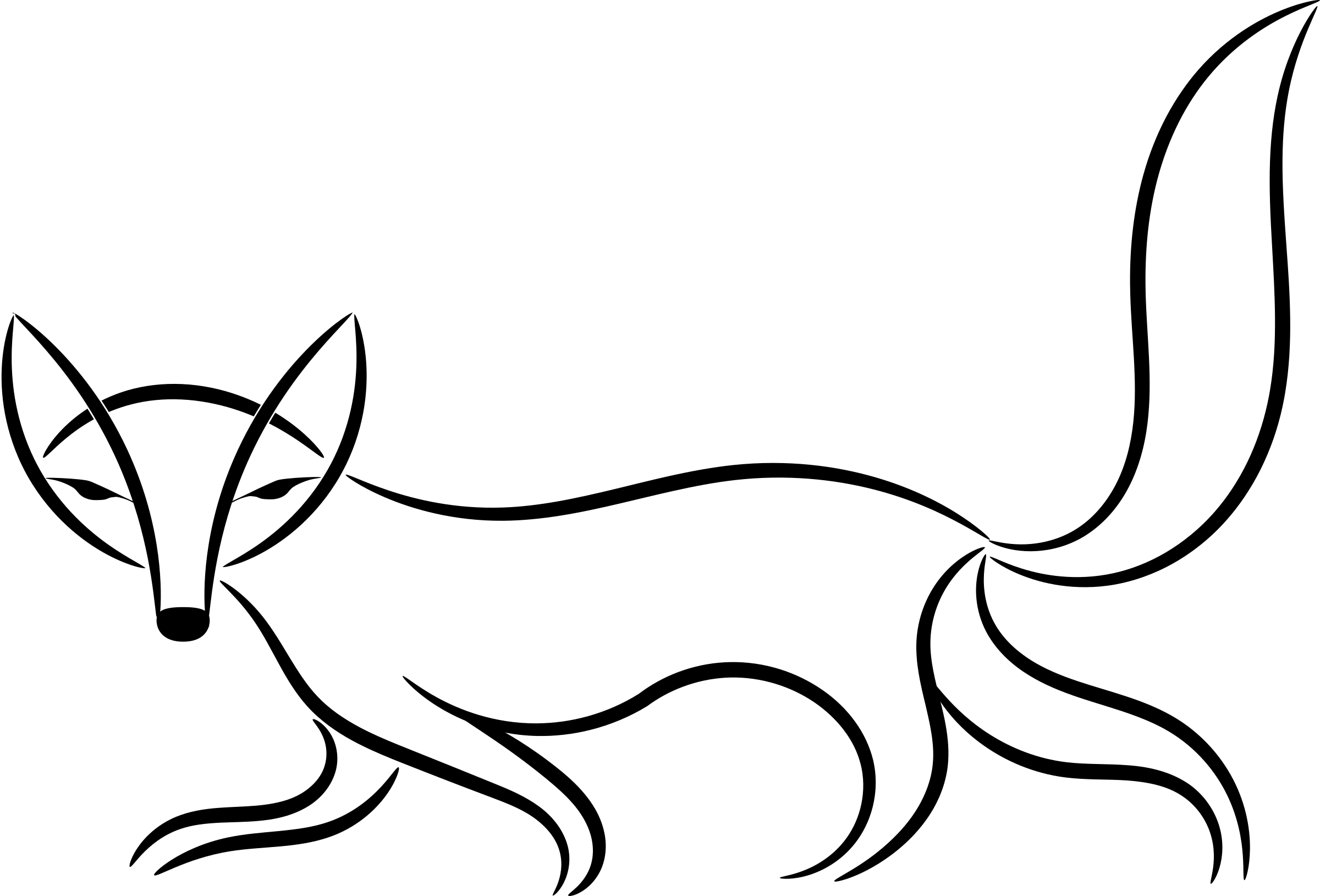 2400x1629 Fox Clipart Transparent Background