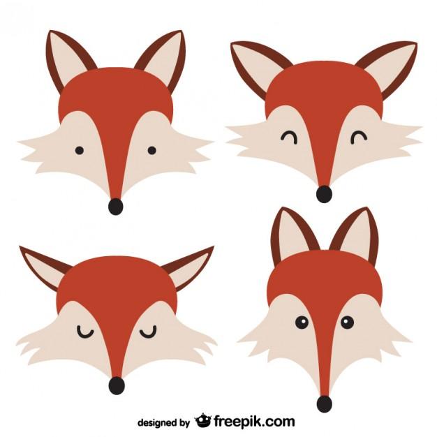 626x626 Fox Faces Vector Free Download