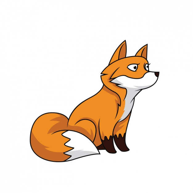 626x626 Hand Painted Fox Design Vector Free Download