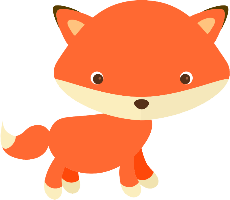 800x694 Clipart Foxes