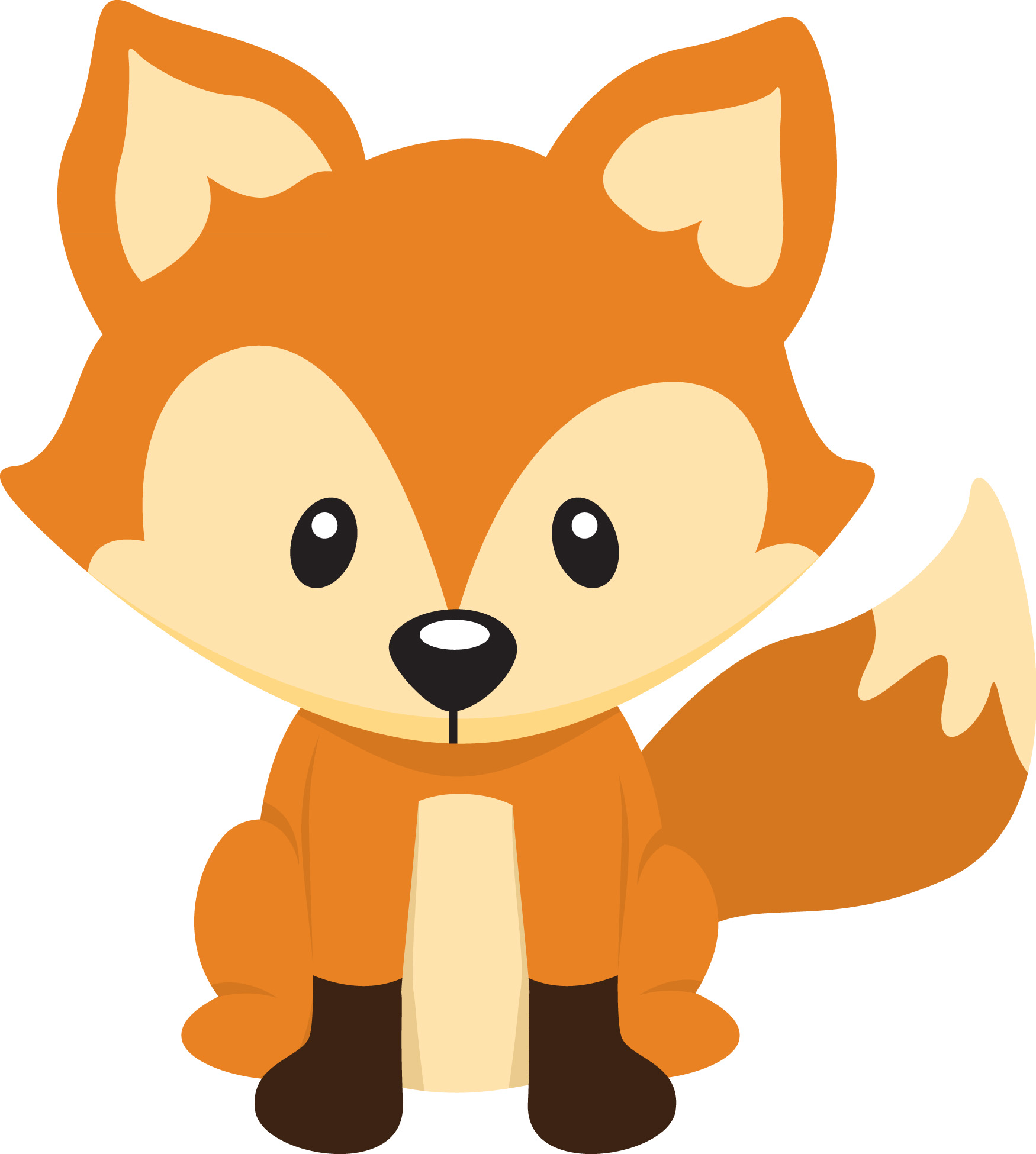 1750x1950 Clipart Of Foxes