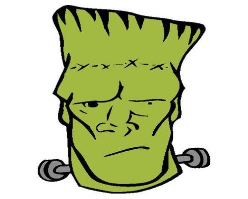 500x400 Head Clipart Frankenstein