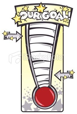 258x380 14 Best Fundraiser Thermometer Images Craft, Fall