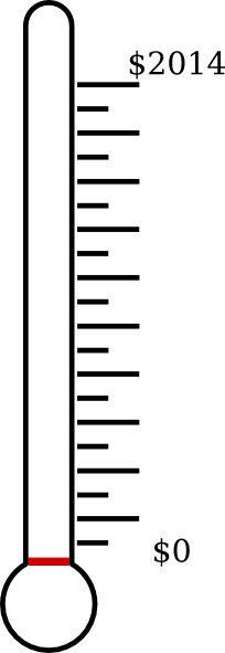 204x591 Blank Fundraising Thermometer Clip Art