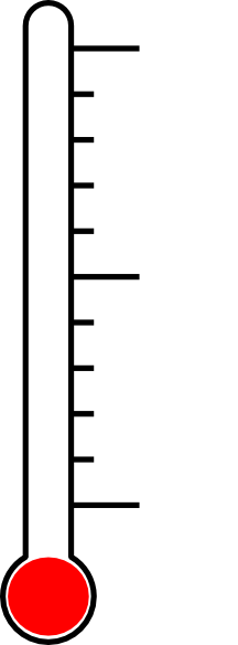 216x584 Blank Fundraising Thermometer Clipart