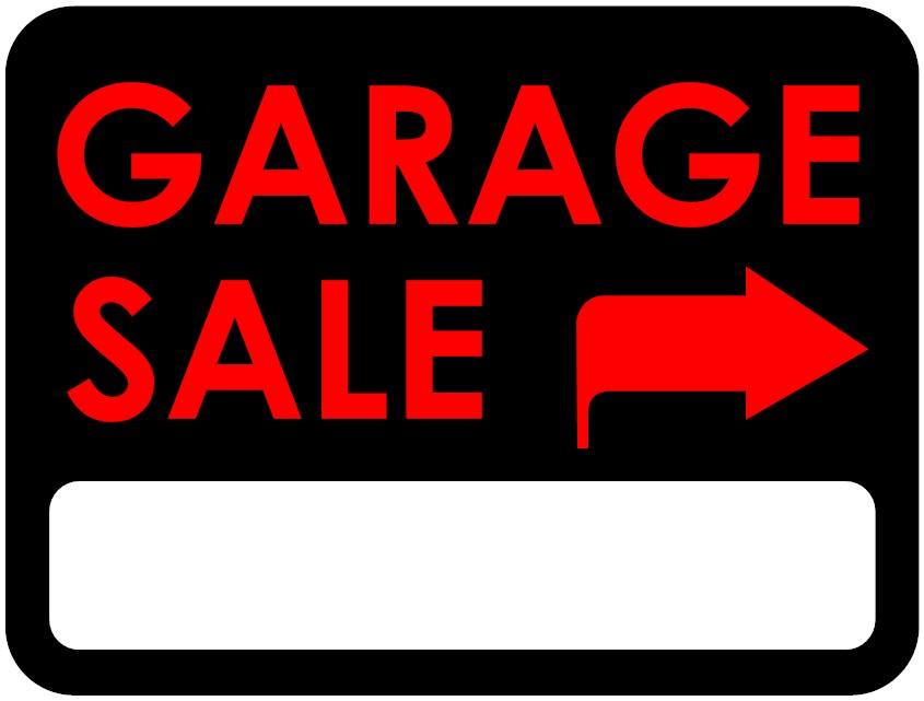 845x641 Garage Sale Signs